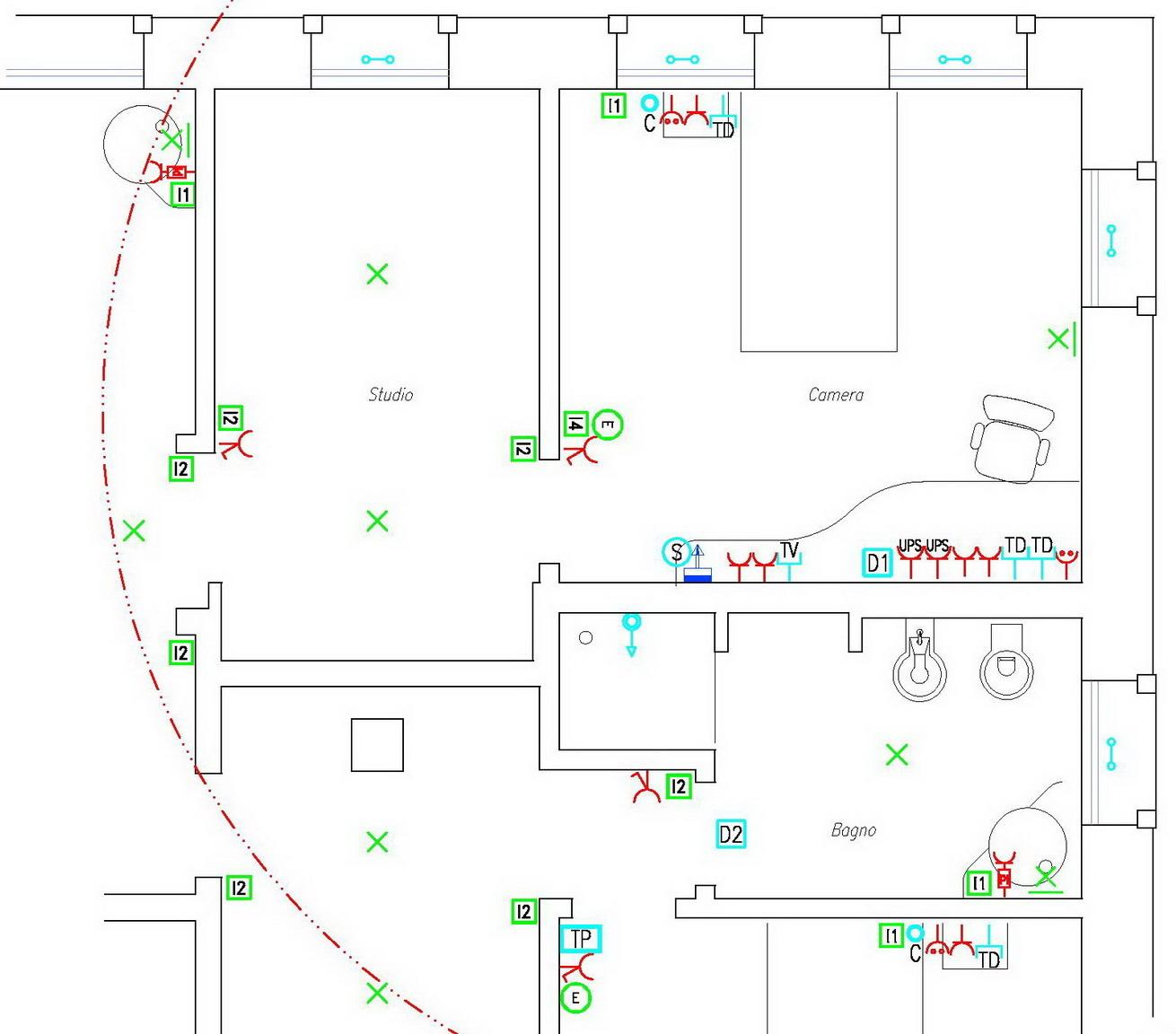 Digital designers disegnatori digitali - Planimetria camera da letto ...
